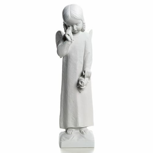 Angelo in lacrime 50 cm polvere di marmo s1