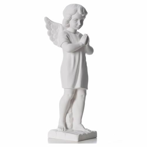 Angelot en marbre blanc statue extérieur s4