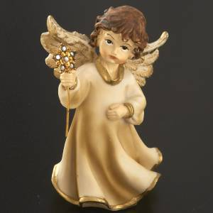 Angeli: Angioletti resina con fiore 4 pz. 12 cm