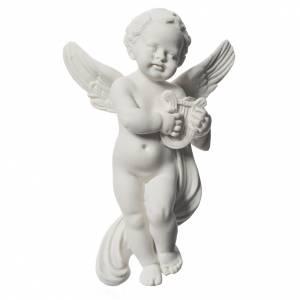 Angioletto con lira cm 14 rilievo marmo s1