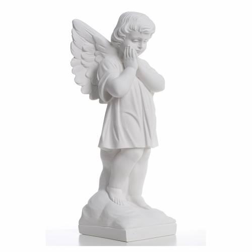 Angioletto mani giunte 40 cm polvere di marmo s4