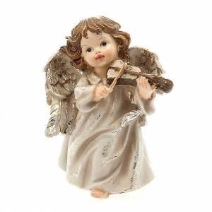 Angioletto musicista con violino decoro di Natale s1