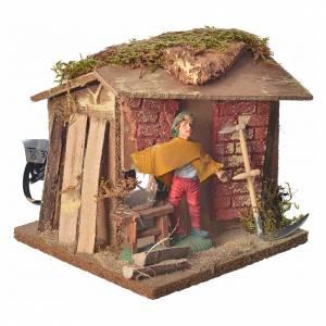 Animated nativity figurine, carpenter 10cm s2