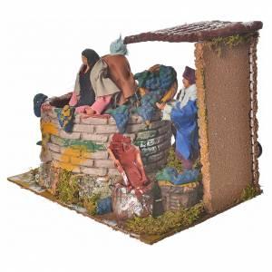 Animated nativity figurine, grape harvest scene 12cm s3
