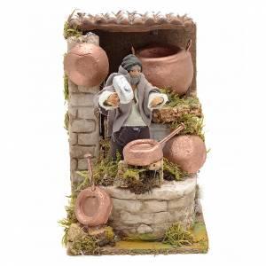 Animated nativity scene figurine, 6 cm tinsmith s1
