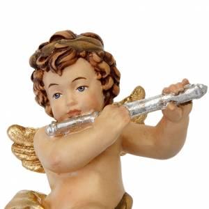 Ozdoby choinkowe z drewna i pvc: Anioł z fletem poprzecznym