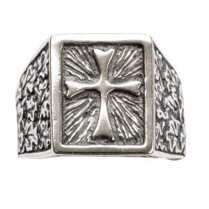 Anneau épiscopal avec croix argent 800 s4
