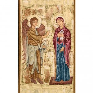 Annunciation pulpit cover, gold background s2