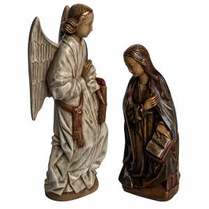 Stone statues: Annunciation statue in stone 29 cm, Bethlehem Nuns