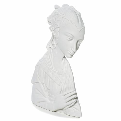 Applique Vierge du Lippi 30 cm marbre reconstitué s3