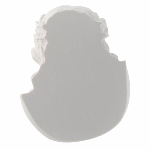 Applique Visage du Christ 10 cm marbre s4