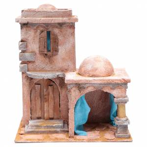 Settings, houses, workshops, wells: Arabian style house with porch 35x30x20 cm