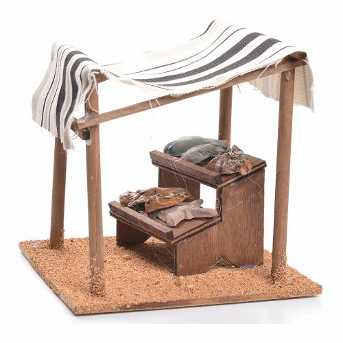 Arabian tent with fish for nativities measuring 10cm s3