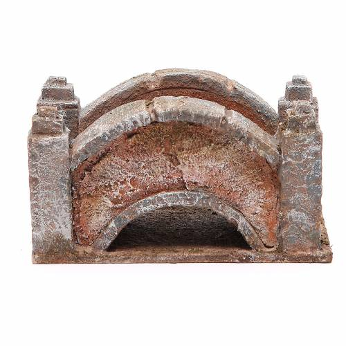 Arched Bridge for nativity 8x15x9cm s1