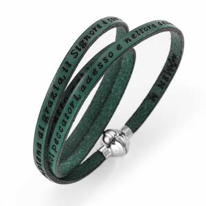 Armbänder AMEN: Armband AMEN Ave Maria Italienisch grün