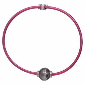 Armbänder AMEN: Armband AMEN Engel und Zirkonen Silber 925 Thermoplast pink