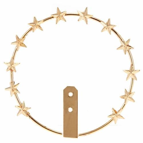 Aro de metal dorado - filigrana s1