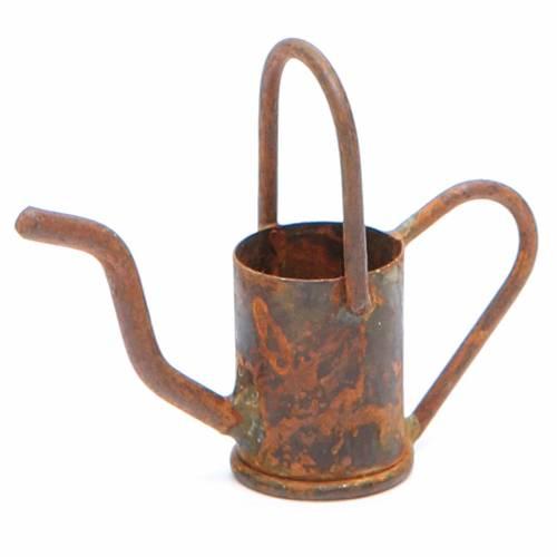 Arrosoir crèche en métal vieilli s1