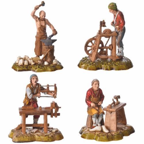 Arts and trades, 4 nativity figurines, 10cm Moranduzzo s1