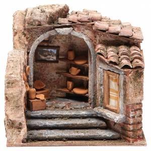 Maisons, milieux, ateliers, puits: Atelier du potier pour crèche 10 cm