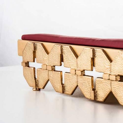 Atril de mesa latón dorado cruces s2