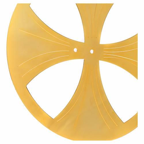 Aureola latón dorado circular s4