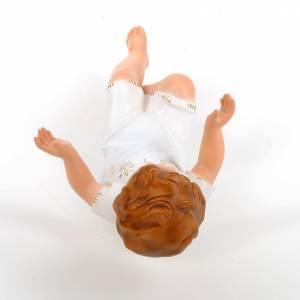 Baby Jesus, lying with crystal eyes, 27cm Landi s4