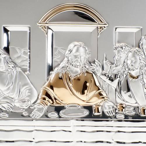 Bajorrelieve oro/plata última cena de Leonardo s5