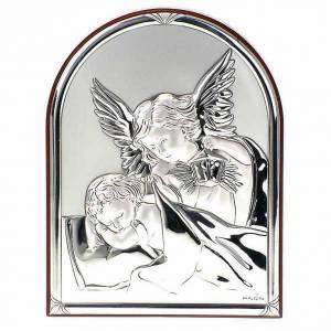 Bajorrelieve plata angel guardián -oval base recta s1