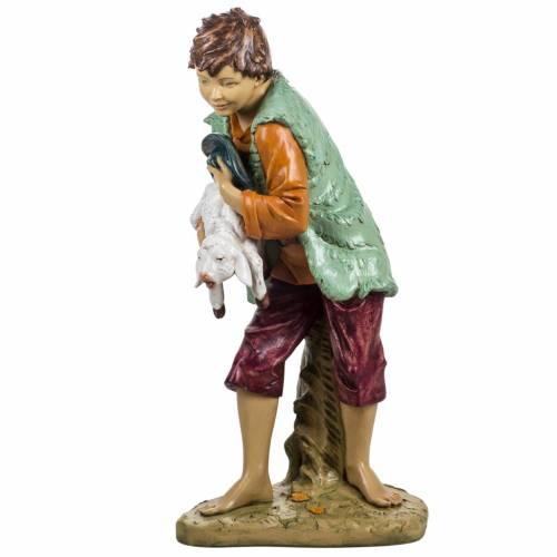 Bambino con agnello 125 cm resina Fontanini s4