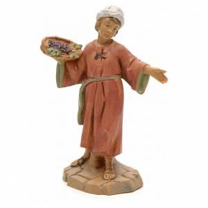 Statue per presepi: Bambino con cesto d'uva 12 cm Fontanini