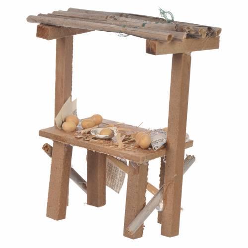 Banc bois oeufs cire crèche 9x10x4,5 cm s2