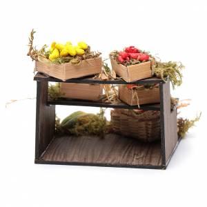 Banco con cesti di frutta - presepe artigianale Napoli s4
