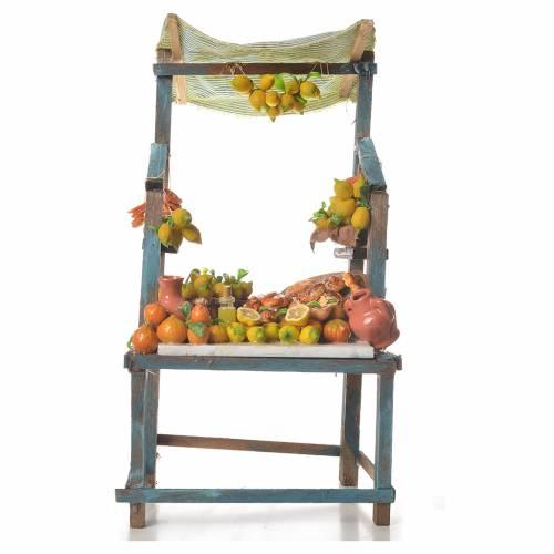 Banco vendita di limoni in cera 41x23x15 cm s6