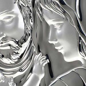 Bas relief  argent sainte famille, ovale s4