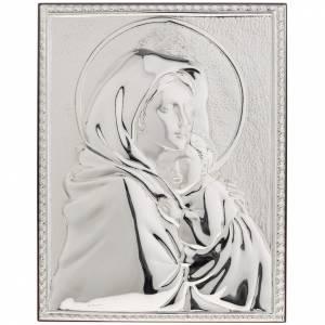 Bas relief argent vierge de Ferruzzi rectangulaire s1