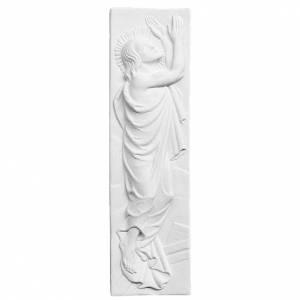 Articles funéraires: Bas relief Christ ressuscité marbre 55x16 cm
