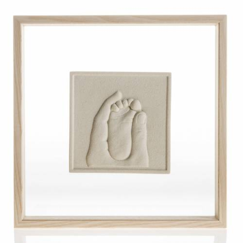 Bas-relief in porcelain gres and glass, Birth of Jesus s1