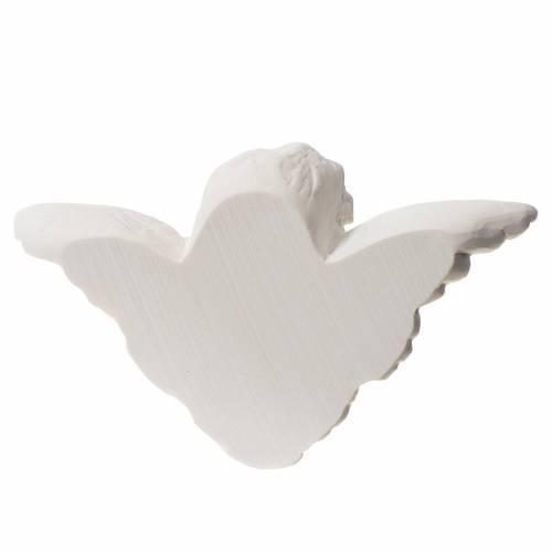 Bas relief tête d'ange 13 cm marbre blanc s2