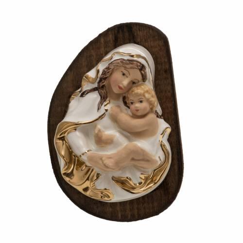Bas relief Vierge et enfant céramique s1