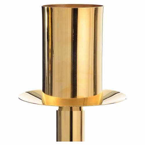 Base cierge pascal laiton doré s4