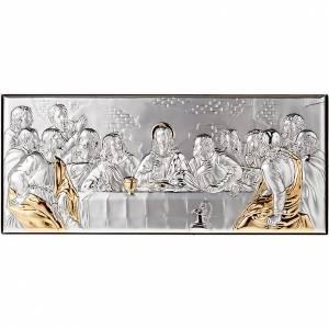 Bassorilievi argento: Bassorilievo bilaminato oro arg. Ultima Cena Leonardo