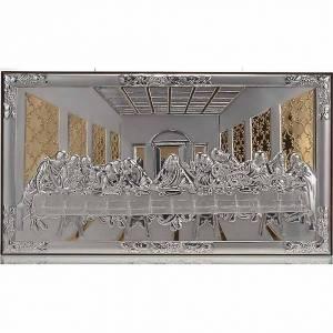 Bassorilievo bilaminato oro argento Ultima cena Leonardo s1
