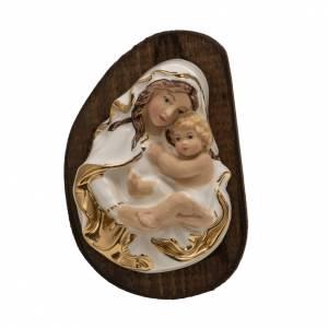 Bassorilievo ceramica Madonna con Bimbo s1