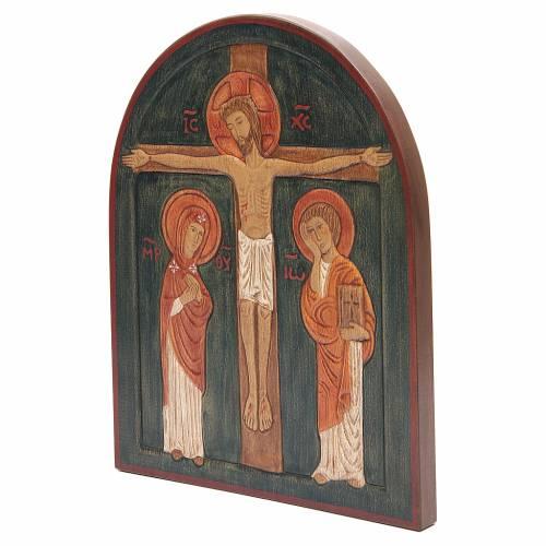 Bassorilievo Crocefissione dipinto s2
