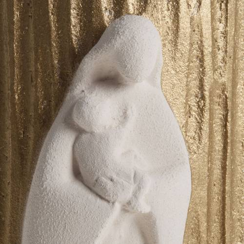 Bassorilievo Maria Gold argilla refrattaria h 17,5 cm s2