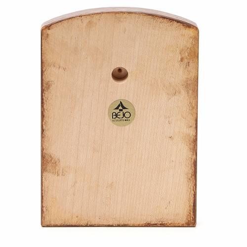 STOCK Bassorilievo Volto Madonna 16x11,5 cm legno Valgardena s2