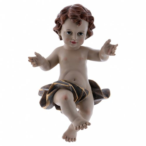 Bebé Jesús de resina h real 21 cm s1