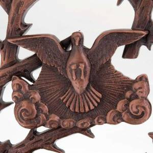 Bénitier bronzé colombe s2