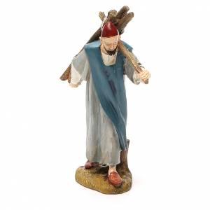 Santons crèche: Berger avec bois résine peinte 12 cm gamme économique Landi